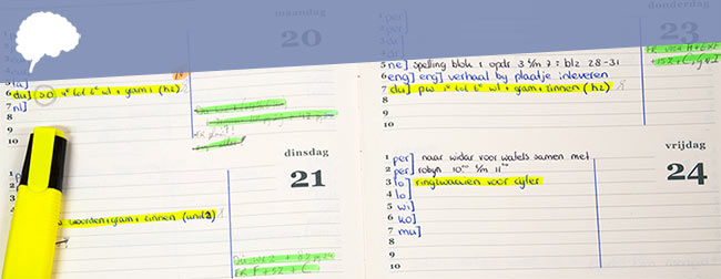 Huiswerk plannen