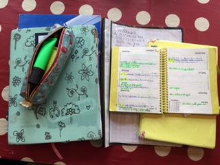 huiswerk en agenda voor de toetsweek