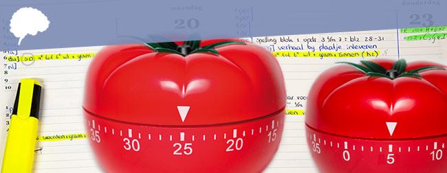 huiswerk maken met de pomodoro-methode