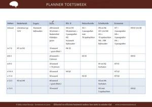 planner toetsweek